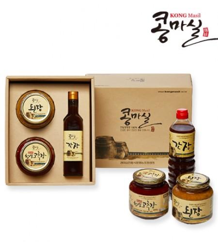 콩마실 선물세트1호 (전통된장, 현미찹쌀고추장, 전통간장)